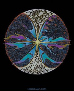 11:11 - Mandala art by Nicole Mizoguchi - The time of awakening when the gateway is open, new light and consciousness are accessible. white, portal, shaman, doorway of light, energy, circle