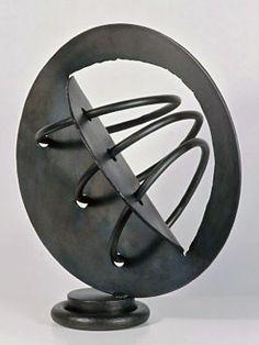 "Rebecca Fox: #163 welded steel, patina, lacquer 22""x20""x14.5"""
