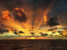 The power of nature.... #clouds #sunrise#sunset #sky #water . Photo by vaggelis