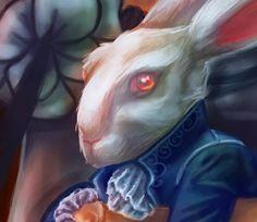 Tim Burton Week: Illustration #illustration #rabbit #alice #in #wonderland #aliceinwonderland #illustration #tim #burton