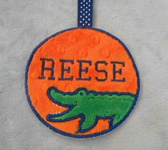 Gators Minky diaper bag by BunnyTcupEmbroidery on Etsy, $10.50