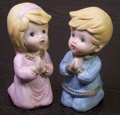 Praying Boy & Girl Vintage Homco Ceramic by RibbonsAndRetro, $9.00