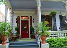Magazine Street Doors, porches and Entries