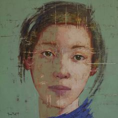 "Saatchi Art Artist Tomasa Martin; Painting, ""Behind her eyes"" woman, eyes, feelings, green #art"