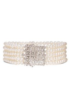 Pearl and diamond bracelet | Http://fifiqin.com