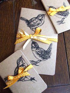 Inky Wren Gocco Printed Pocket Moleskine Cahier Notebook by Melanie Green