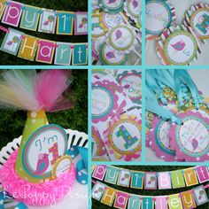 Girl Bird Birthday Party Ideas - Seriously, this little party hat is one of the top 10 cutest things I've ever seen.