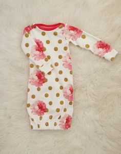newborn gown, baby girl gown, newborn girl gown, baby sleep sack by… Baby Girl Fashion, Kids Fashion, Latest Fashion, Bebe Love, Gowns For Girls, Sleep Sacks, Everything Baby, Baby Time, My Baby Girl