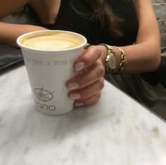 Amazingly, besides tasting incredibly good, Milano coffee ☕️keeps your manicure sparkling Pic by @milanoespressobar
