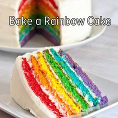 Bucket list: try my hand in the kitchen by baking a rainbow cake!