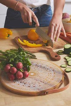 Magical Thinking Patterned Cutting Board