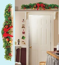 Tired of the hassel of getting the garland to stay where you want it ? Not to mention all the staple holes you put in the walls year after year ! This year save yourself the hassle with this beautiful garland peel and stick wall decal ! When the season is over, simply place the decal back on wax paper and store away for next season !