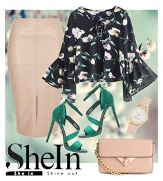 """""""SheIn Blouse"""" by laurabosch on Polyvore featuring River Island and Nine West"""
