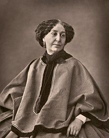 George Sand by Nadar, 1864  Amantine-Lucile-Aurore Dupin[1] (French: [amɑ̃tin lysil oʁɔʁ dypɛ̃]; 1 July 1804 – 8 June 1876), best known by her pseudonym George Sand (French: [ʒɔʁʒ sɑ̃d]), was a French novelist and memoirist. She is equally well known for her much publicized romantic affairs with a number of artists, including the composer and pianist Frédéric Chopin and the writer Alfred de Musset.