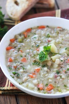 Chunky White Bean Soup - healthy, chunky, hearty soup is a fall must have! | littlebroken.com @littlebroken #soup