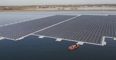 Europe's largest floating solar farm is ready to switch on. Built on a reservoir, (the Queen Elizabeth II), near Heathrow airport in Britain, the solar array is to supply energy to a water treatment plant, the sort of facility that places a huge and often little-recognised drain on electricity. The farm, which is the size of eight football pitches, is expected to generate 5.8 million kilowatt…