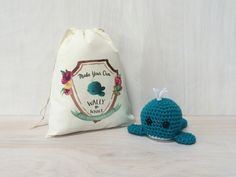 Wally the Whale DIY Crochet Kit by nothingbutapigeon on Etsy