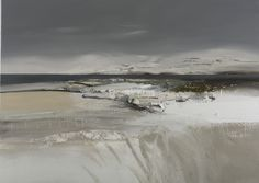 The Thoughtful Quiet of Winter - Scottish West Coast Landscape Oil on canvas Painting by contemporary Scottish Artist Chris Bushe RSW at Panter and Hall Gallery, London Beach Landscape, Abstract Landscape, Seascape Paintings, Landscape Paintings, Oil Paintings, Spa Art, Dundee City, Selling Art, Abstract Paintings