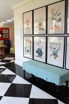 Oversized photo copies make a striking Gallery Wall in the Sunroom of The Carolina Inn via The Gracious Posse