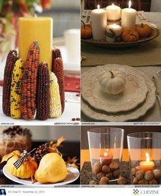 Inspiración para fiestas Acción de Gracias