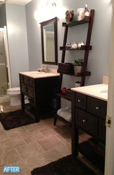 """Love this idea, """"His"""" and """"Her"""" vanities!"""