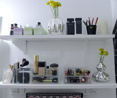 Pretty Enough to Display: Organized Cosmetics in the Bathroom
