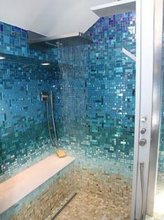 Beautiful Blue Glass Bathroom