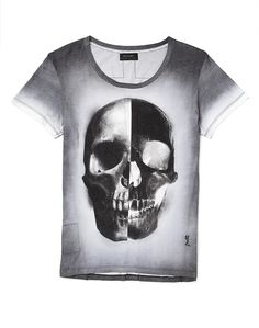 The Idle Man's Religion T Shirt with Skull Print now available to buy online.