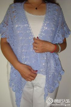 blue tippet for a cool evening lace shawl for women, free crochet pattern Crochet Shawls And Wraps, Crochet Scarves, Crochet Clothes, Lace Shawls, Crochet Gratis, Free Crochet, Crochet Woman, Crochet Lace, Irish Crochet