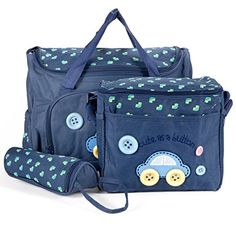 Nappy Changing Bags, Changing Mat, Design Mignon, Diaper Bag, Mothers Bag, Large Bags, Dark Blue, Lunch Box, Zip