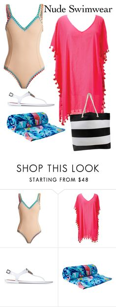 """""""Untitled #103"""" by fgisborne ❤ liked on Polyvore featuring kiini, San Diego Hat Co., Armani Jeans and Lilly Pulitzer"""