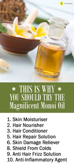 Monoi Oil - When choosing from various plant and herb-based oils, have you ever wondered if there was something that could fulfil comprehensive beauty needs? Healthy Scalp, Healthy Hair, Natural Beauty, Natural Hair Styles, Natural Makeup, Hair Frizz, Dry Hair, Best Beauty Tips, Diy Beauty