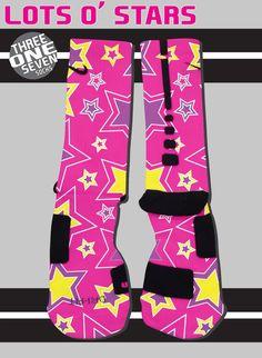 Lots O' Stars Designer Custom Nike Elite Socks