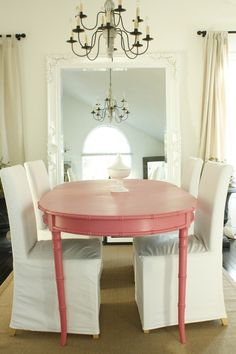 I don't know if John would go for it, but I really love the idea of a pink table <3