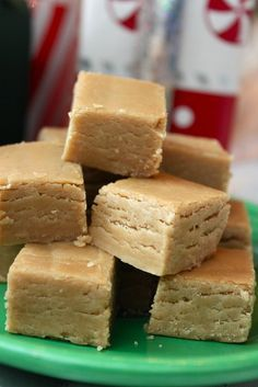 Peanut butter fudge -- I would make it, but I would sit here and eat it all.