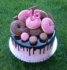 Chocolate cake with donuts by AndyCake
