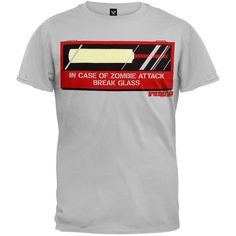 Shaun Of The Dead - In Case Of Zombie Attack T-Shirt | OldGlory.com