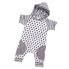 be9b1496acc1 Axel Hooded Romper Baby Girl Dresses