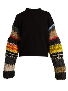 Shop our edit of women's designer Knitwear from luxury designer brands at MATCHESFASHION Merino Wool Sweater, Wool Sweaters, Look Fashion, Fashion Outfits, Fall Fashion, Chunky Knitwear, Poncho, Sweater Shop, Big Sweater