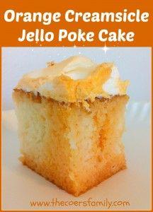 Orange Creamsicle Jello Poke Cake