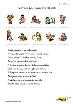 Cositas de AL y PT: Comprensión niños y acciones Spanish Projects, Spanish Worksheets, Spanish Class, Lectures, Reading Comprehension, Psychology, Therapy, Teacher, Student