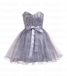 Bridesmaid dress/prom dress/silver sequins/oneshoulder by Dressfan, $75.00