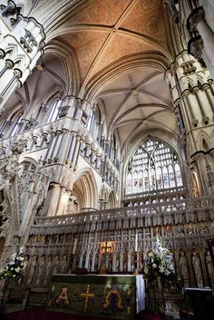"Beverley Minster, Yorkshire. Possibly best concert we've ever heard... possibly my favorite ""almost cathedral""."
