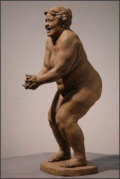 laughing woman richard weaver    figure sculpture