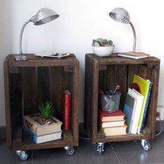 DIY: Cajas de fruta como mesitas                                                                                                                                                      Más