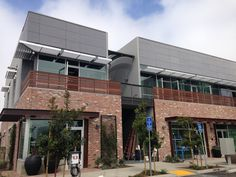 Creative Office Space in El Segundo with Dark Gray Fiber Cement Boards. Designed by Withee Malcolm Architects.