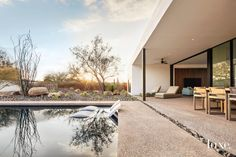 Less Is More In Arizona's Sonoran Desert | Luxe Interiors + Design Outdoor Spaces, Outdoor Living, Fire Pit Bench, Spa Inspired Bathroom, Ipe Wood, Modern Minimalist House, Green Rooms, Story House, The Ranch