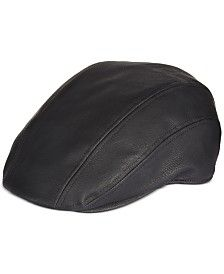 Sean John Faux Leather Ivy Hat
