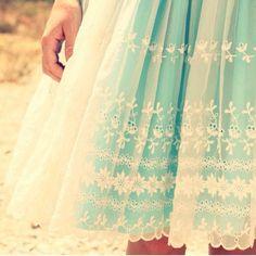 vintage aqua & lace dress