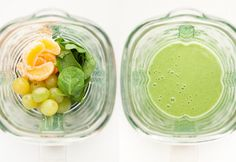 Green Smoothie In The Morning.Excellent Green Smoothies Suggestions For Novices And Experts Green Detox Smoothie, Healthy Green Smoothies, Green Smoothie Recipes, Juice Smoothie, Smoothie Drinks, Fruit Smoothies, Healthy Drinks, Smoothie Cleanse, Breakfast Smoothies